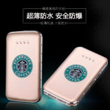 Ultra mince Starbucks Slim Banque d'alimentation 8000mAh alimentation du calculateur
