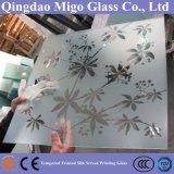 Lead-Free шелкографии матовое закаленное стекло душ двери (6 мм 8 мм 10мм)