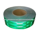 صنع وفقا لطلب الزّبون لون اللون الأخضر انعكاسيّة أمان شريط