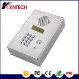Teléfono de acero industrial Knzd-03 Teléfono inalámbrico Teléfono de ascensor de acero inoxidable
