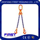 チェーン吊り鎖を持ち上げる高力2本の足