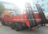 Dongfeng 12の車輪頑丈な16のT折るアームクレーンはトラックに取付けた