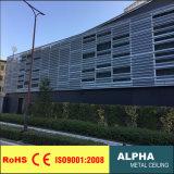 Façades et revêtements en aluminium perforés personnalisés extérieurs de panneau de mur de Metalcurtain