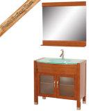 Fed-1076 шкаф ванны твердой древесины тщеты ванной комнаты вишни света 30 дюймов