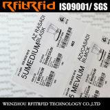 Etiquetas engomadas de encargo programables del pegamento RFID de la frecuencia ultraelevada para la ropa