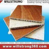 建築正面のパネルのおおいの天井の表記によって換気される正面のための木の質の仕上げの蜜蜂の巣のパネル