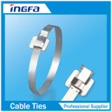 304 316 ataduras de cables revestidas ajustables del acero inoxidable del grado 9.5X457m m