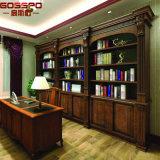 Bibliothèque Bibliothèque en bois massif Bibliothèque avec bureau d'étude (GSP18-032)