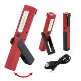 Rhéostat rechargeable rechargeable USB phare de travail magnétique