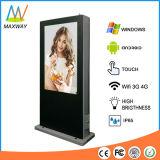 IP55/IP65 het waterdichte Grote Scherm LCD van de Tribune van de Vloer van 65 Duim Kiosk Openlucht (mw-651OE)
