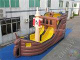 Barco pirata gigante inflable de diapositivas / Barco pirata tobogán para niños
