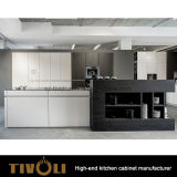 カスタム食器棚Tivo-0288hが付いている黒い食器棚