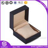 Коробка ювелирных изделий черноты подарка хорошего качества бумажная упаковывая