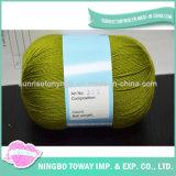 Rabatt-kundenspezifischer Schal-Bambuswolle-Nadelspitze-Garn für Stickerei