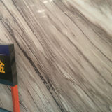 Lastra di marmo artificiale unica dell'oro romantico flessibile della decorazione interna per le mattonelle di pavimento