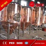 El tanque de cobre de la cerveza del depósito de fermentación de la fermentadora de la fermentadora