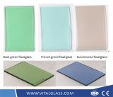 문과 Windows를 위한 공간 또는 색을 칠하는 사려깊고 또는 낮은 철 결정 또는 황금 청동색 또는 파랗고 또는 녹색 또는 회색 또는 까만 또는 분홍색 건물 편평한 플로트 유리