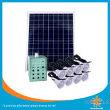40W Solar Light Kit con lámpara de 8PCS LED, cable de 6 m
