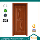 Portello interno di legno composito all'ingrosso del PVC della Cina con hardware per il progetto
