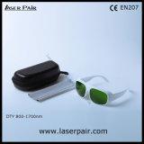 Vidros de segurança do O.D4+@800-1700nm & do laser para lasers do diodo com frame branco 52