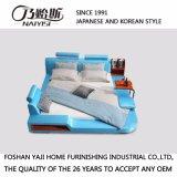 현대 작풍 파란 색깔 가죽 침대 가구 Fb8040b
