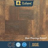12.3mm AC4 Texture Woodgrain noyer tranchant ciré Laminbate-de-chaussée