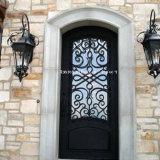 美しいハンドメイドの錬鉄の単式記帳の前ドア