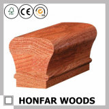 Balustrade en bois solide de décoration intérieure pour l'hôtel