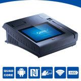 Posición androide terminal de la tablilla NFC de Epos con la impresora de 58 milímetros