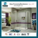 ホームおよびホテルのためのFramelessのコーナーの停止のBacksplashの長方形のガラスシャワー