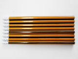 Crayon Hex à crayon à rayures avec crayon à papier Eraser