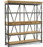 Möbel-Buch-hölzerne Standplatz-Regal-Zahnstange für Bildschirmanzeige (AJ-0037)