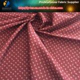 Tessuto molle di stampa del pelo della saia del poliestere per le camice degli uomini (FOGLIO & FIORE)