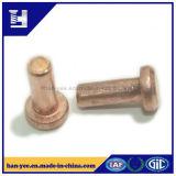 Cuivre/rivet solide de base rond en acier
