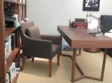 2016 Estilo Moda sofá de couro cadeira cadeira de madeira da sala de estar (C-52)