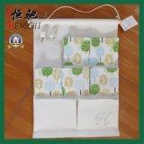 8 zakken katoen gelamineerde muur hangende opslag tas