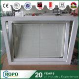 ビニールのハリケーンの影響の倍の中ブラインドが付いているガラス傾きおよび回転Windows