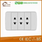 Bottom Price Triple Gang Two Pin Socket