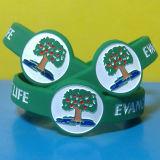 Regarder la forme remplie d'encre personnalisés Bracelets en Silicone avec des échantillons gratuits
