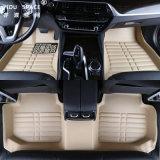Commerce de gros de l'usure imperméable en cuir Beige 5D anti-patinage des tapis de voiture