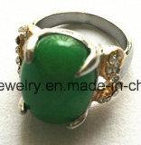 نمو مجوهرات [ستينلسّ ستيل] اللون الأخضر حجارة [كستينغ رينغ]