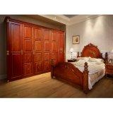 빨간 버찌 침실 세트를 위한 호화스러운 여닫이 문 옷장