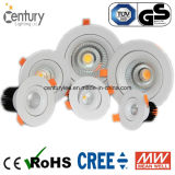 15W LED가 둥근 온난한 백색 90mm 배기판 옥수수 속에 의하여 아래로 점화한다