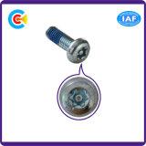 Flor do aço de carbono Galvanized/M2.3/parafuso da cabeça da bandeja prendedores do Cinquefoil com coluna