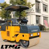 Rouleau de route vibratoire de 6 tonnes de double tambour hydraulique de Ltma