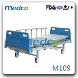 Ce&ISO 병원 장비. 조정가능한 아BS 강철 단 하나 크랭크 수동 병상