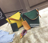 Vendendo o fornecedor de couro Sy8134 de China das bolsas do plutônio da alta qualidade do saco de ombro da cor contínua