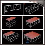 Montantes de madeira ajustáveis da plataforma do estágio do alumínio
