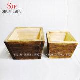 Деревянные коробки плантатора для засаживать цветка патио балкона