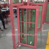 Woodwin Qualität garantierte doppelter thermischer Glasbruch-Aluminiumfenster